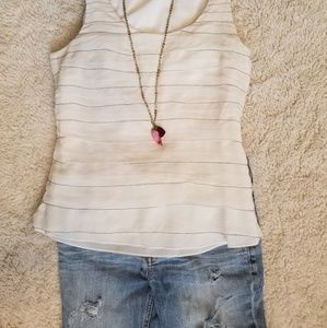Ann Taylor silk layered tank